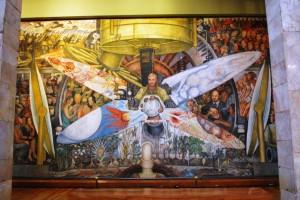 نقاشی دیواری دیگو ریورا که پیش از کامل شدن توسط راکفلر خراب شد.