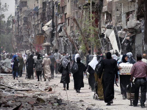 اشغال اردوگاه فلسطینی یرموک توسط داعش