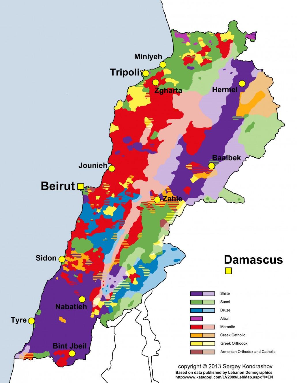 وقتی لبنان با 4.5 میلیون نفر جمعیت این قدر تنوع قومی دارد، چه طور میشود بیش از 360 میلیون نفر عرب جهان را یکی فرض کرد؟