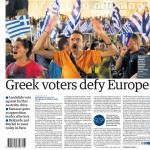 واکنش روزنامههای کثیرالانتشار به رایگیری یونان
