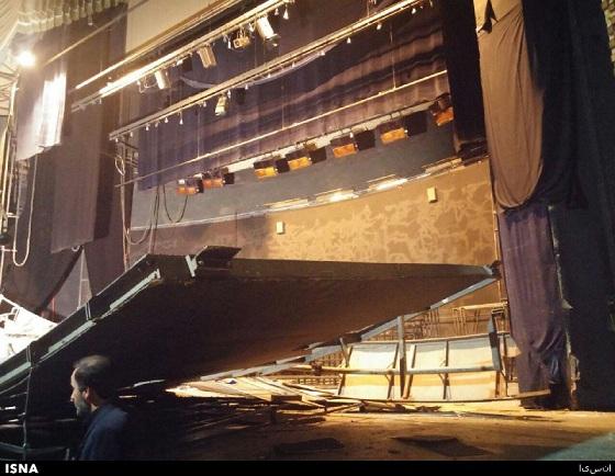 پیشانی سالن اصلی تئاتر شهر فرو ریخت