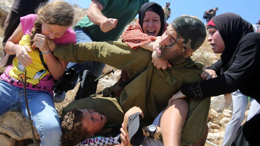 دختر ۱۴ ساله مبارز فلسطینی را بیشتر بشناسید