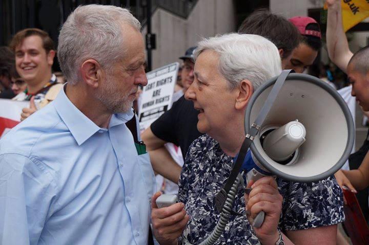 Jeremy Corbyn at Pride
