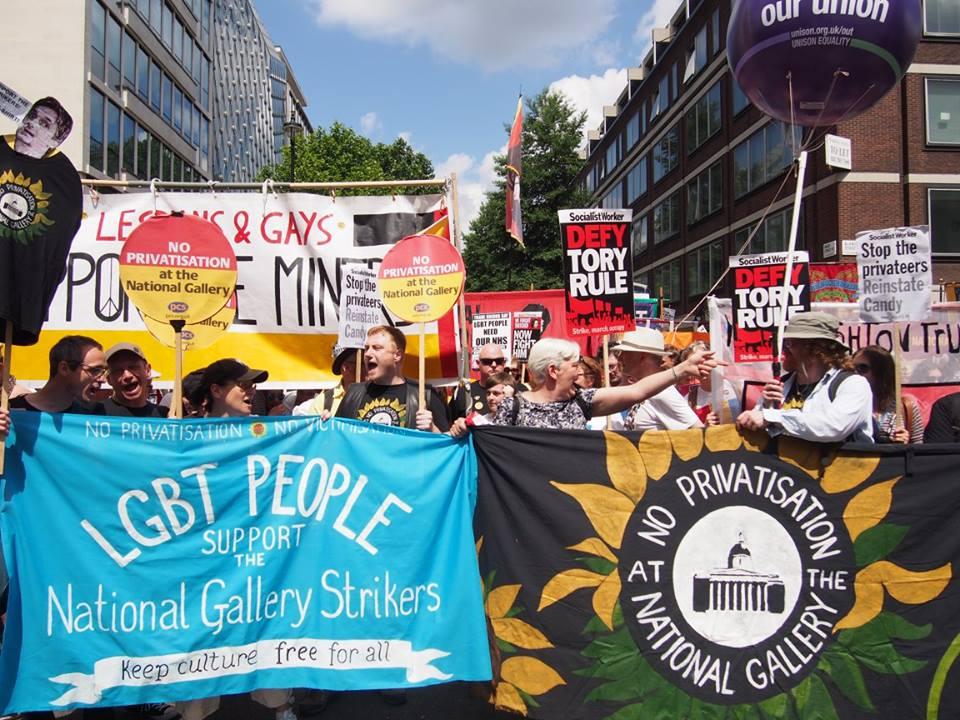 Marching with LGSM at the Pride March in June, 30 years on from the miners' strike