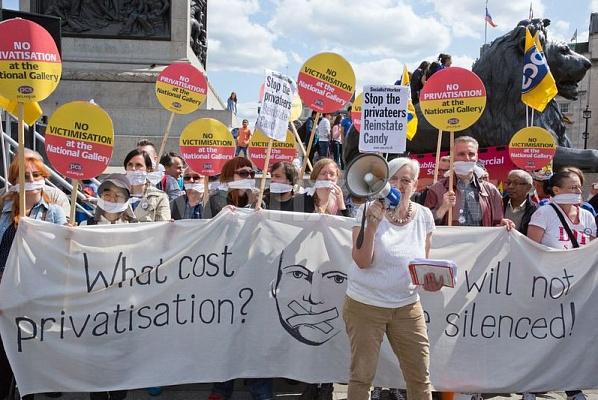 اعتصاب ۱۱۱ روزه کارکنان گالری ملی لندن