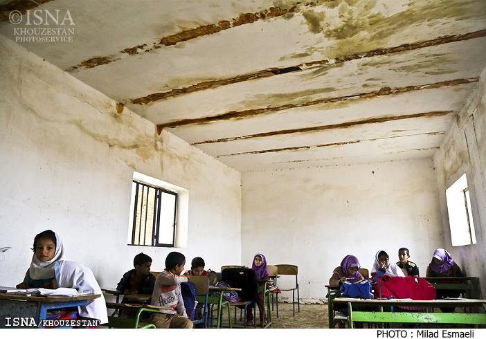 منطقهای با ۱۵ چاه نفت و تنها یک مدرسه فرسوده