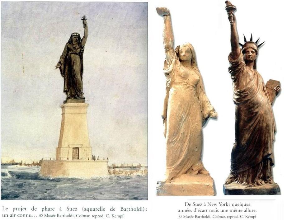 مجسمه آزادی قرار بود زنی مسلمان باشد