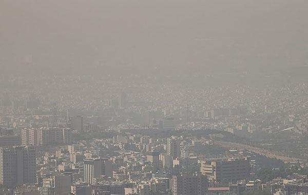 آلودگی هوای تهران وارد مرحله قرمز شده است