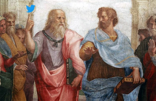 اگر افلاطون عضو توئیتر بود، آنجا چه مینوشت؟