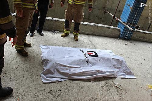 سقوط مرگبار دو کارگر جوان از یک ساختمان هشت طبقه