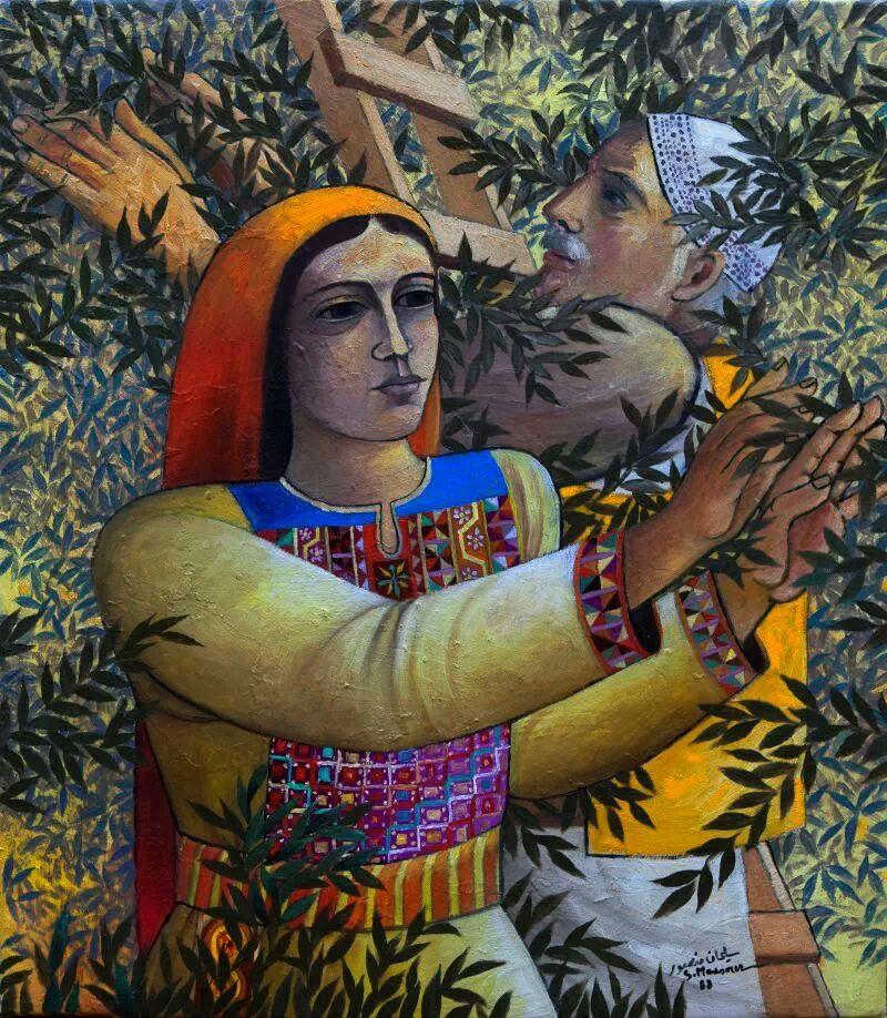 Olive_picking_-_Sliman_Mansour