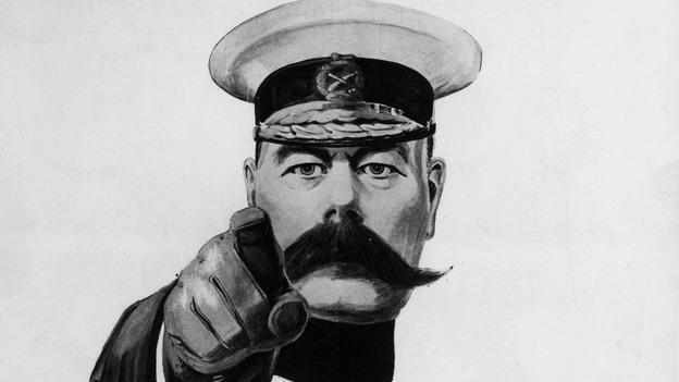 تصویری معروف از لرد کیچنر که به صورت تبلیغات جنگ تبدیل شده بود.
