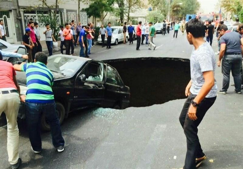 فروریزشها در تهران به دلیل عملیات زیرزمینی و تونلهای زیرزمینی مترو است