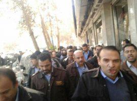تجمع کارگران شرکت واحد با دخالت پلیس به تشنج کشیده شد