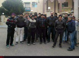 تجمع کارگران راهآهن قزوین- رشت و ادامه تجمع در مهاباد