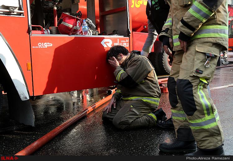 کشتهشدن ۲۰ آتشنشان در حادثه پلاسکو
