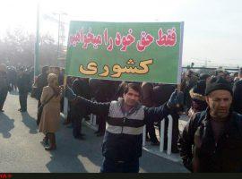 تجمع در تهران و اراک، کشتهشدن راننده بیلمکانیکی در پاکدشت