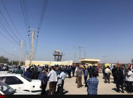 ادامه اعتراضها در اهواز و پایان تجمع ۵۰ روزه در مسجدسلیمان