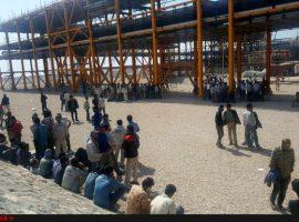 برگزاری تجمع کارگری در عسلویه و پلدختر