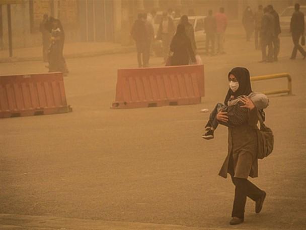 غلظت ریزگردها در خوزستان به ۶ برابر حد مجاز رسیدزمان مطالعه: ۱ دقیقه