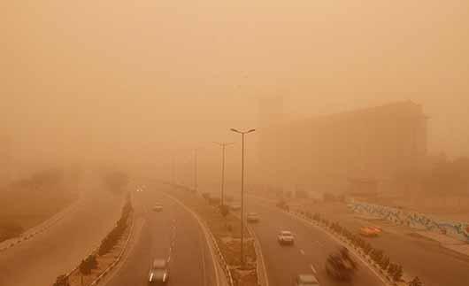 افزایش غلظت گردوغبار اهواز به ۱۲برابر حد مجاز