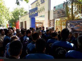 ادامه تجمع کارکنان شرکتی مخابرات مشهد برای هفتمین روز