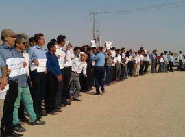 لغو مراسم کلنگزنی پتروشیمی دشتسان با اعتراض و مقاومت مردم