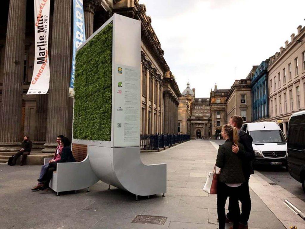 دیواری که به اندازه ۲۸۵ درخت هوا را تصفیه میکند