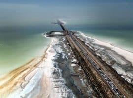 نگرانی از کاهش ۲۰سانتیمتری تراز آب دریاچه ارومیه