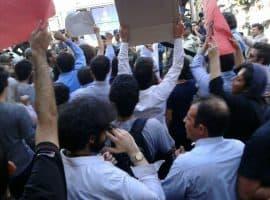 تجمع فعالان کارگری، معلمان و دانشجویان در حمایت از رضا شهابی