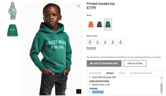 «اچ اند ام» برای لباس نژادپرستانهاش مجبور به عذرخواهی شد