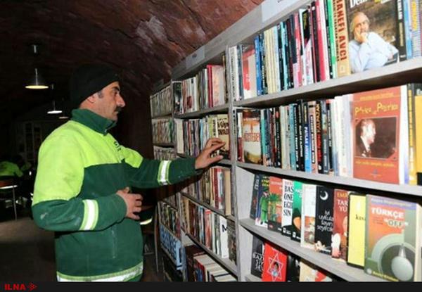 کارگران آنکارا از کتابهای دور ریخته شده کتابخانه ساختند
