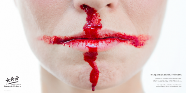 افزایش خشونت خانگی در انگلستان هنگام باخت تیمملی فوتبال این کشور