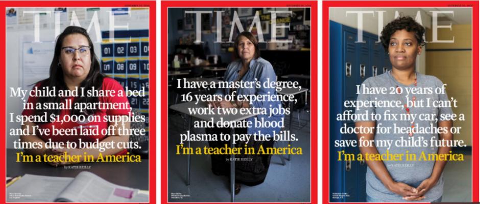 معیشت معلمان آمریکا با نگاهی جزییتر از روی جلد به درون