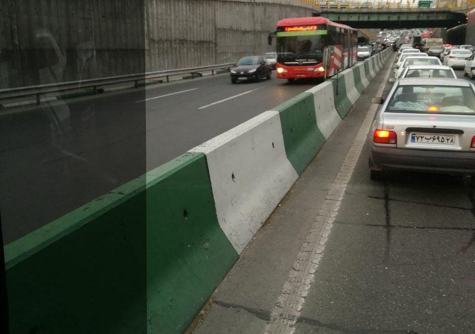 اعتراض چراغ روشنِ رانندگان شرکت واحد اتوبوسرانی تهران