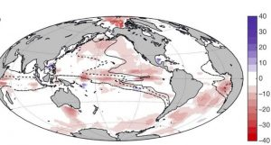 مقدار کاهش و افزایش سطح اکسیژن در اقیانوسهای زمین در نیم قرن اخیر