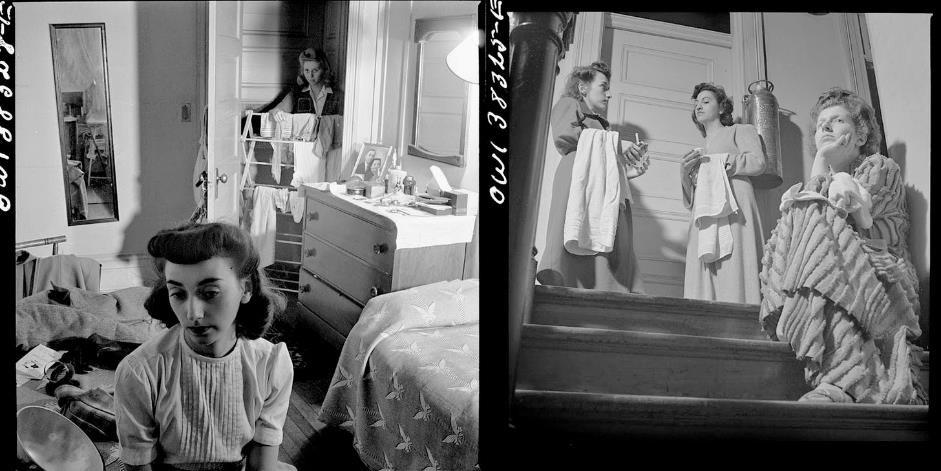 زندگی در یک خانه شبانهروزی، تصویر از استر بوبلی، ۱۹۴۳٫ منبع:https://archinect.com