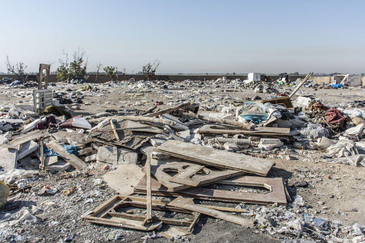 گزارش تصویری از تخریب سرپناه زبالهگردان اشرفآباد