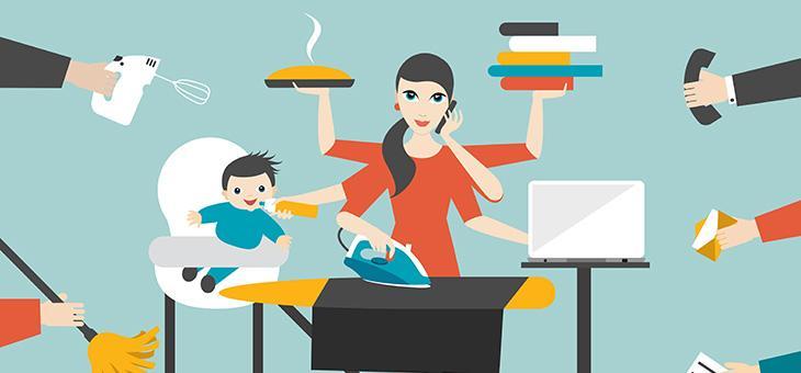 زنان در چندکارگی بهتر نیستند، فقط بیشتر کار میکنند