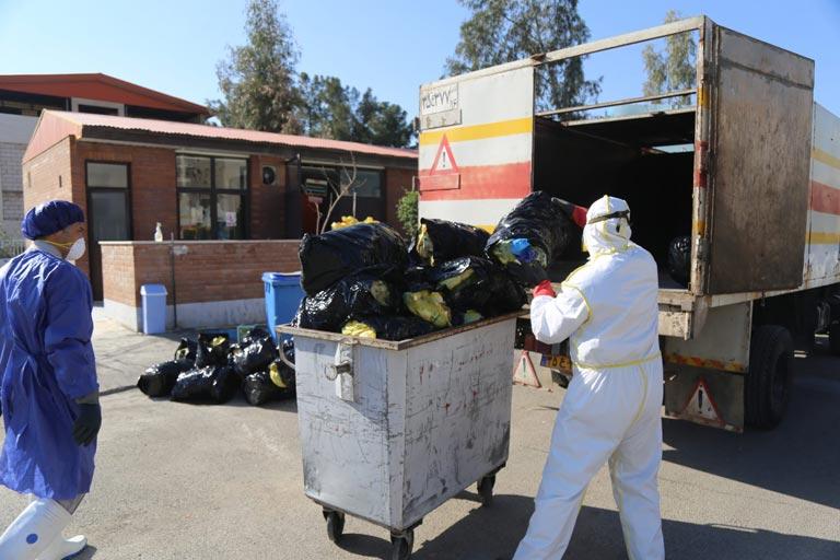 پسماندهای کرونا لنگ آهک و زبالهسوز