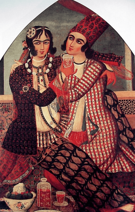 تصویر شماره 3 : آغوش عاشقانه، منتسب به محمد صادق، 1183- 1193 قمری. منبع: مجموعهی اسکندر عاریه