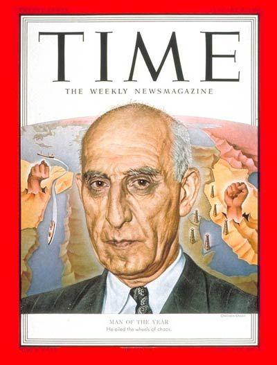 دی ۱۳۳۰: مصدق، فرد برگزیده سال مجله تایم