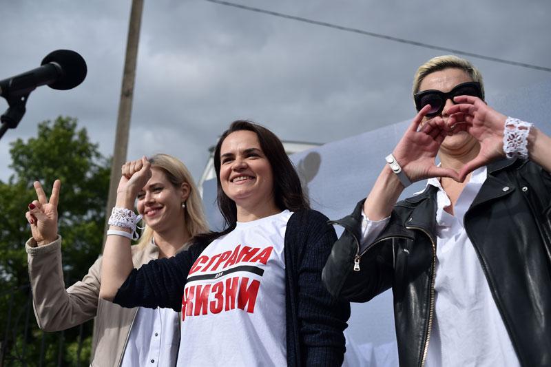 کارزار انتخاباتی یک معلم زن علیه لوکاشنکو در بلاروس