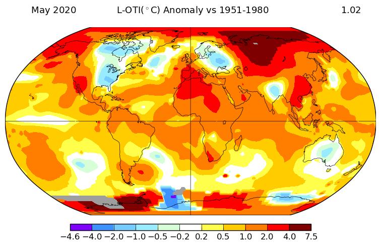 افزایش دما زمین