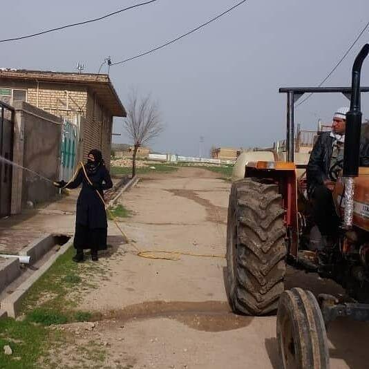 دهیار روستای فاطمیه در استان ایلام پیشتاز مقابله با کرونا کووید-۱۹