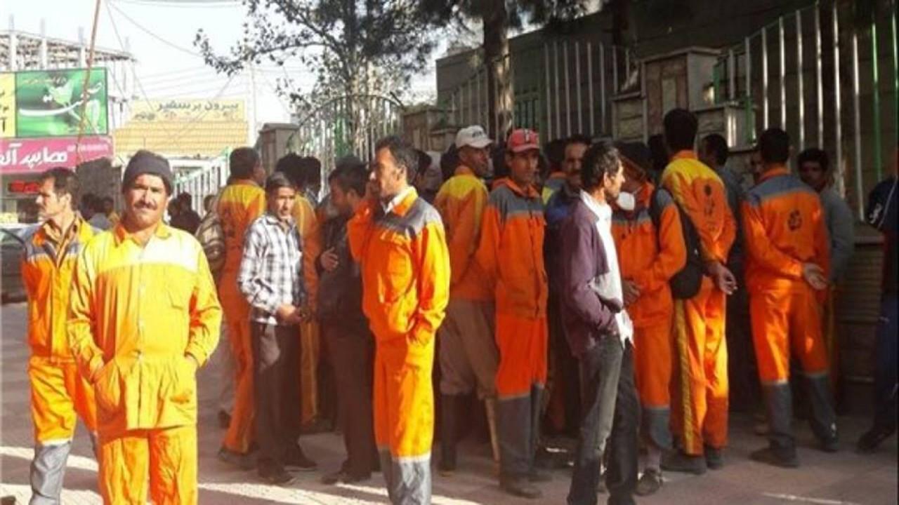 تجمع اعتراضی کارگران شهرداری خوزستان در چند شهر