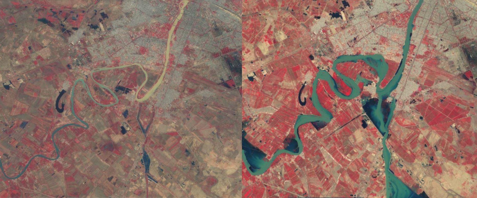 تصویر ماهواره از جنوب اهواز