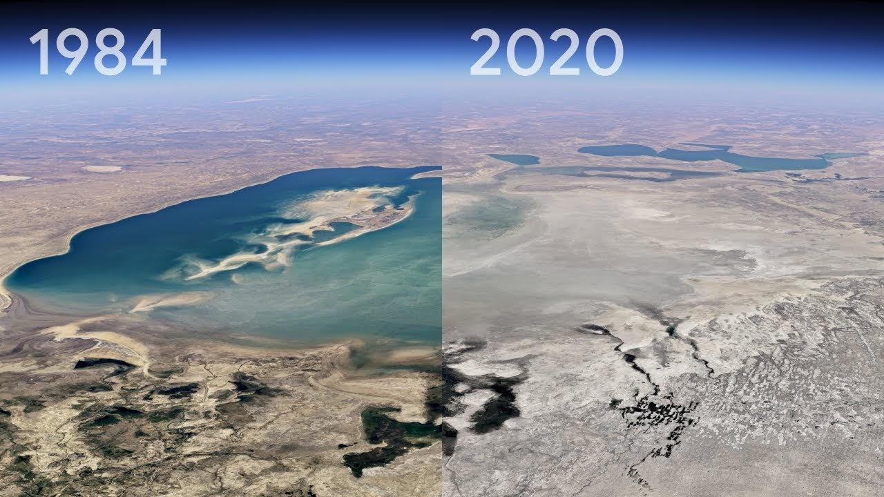 ویدیویی از ۳۷ سال تغییر اقلیم در زمین