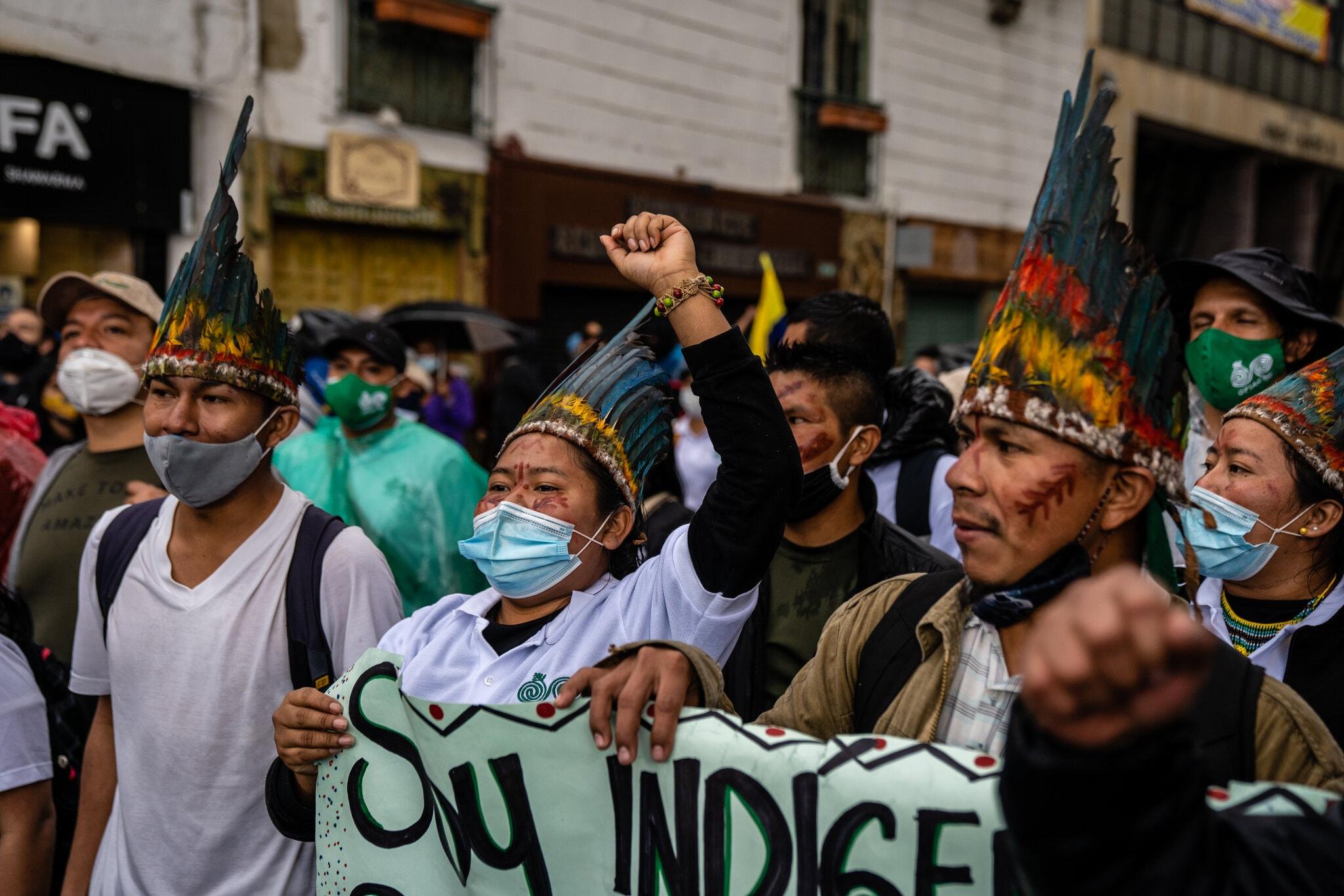 معترضان کلمبیایی برای «عدالت» به خیابان آمدند