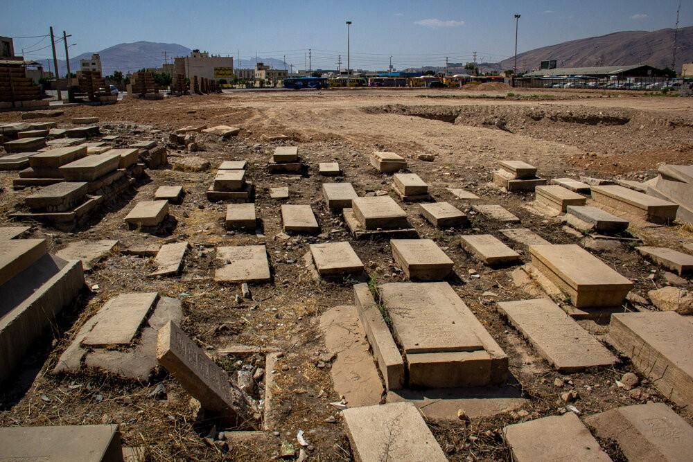 تخریب قبور قبرستان تاریخ مهرعلی کوچک شیراز